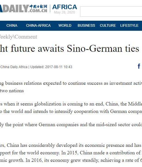 A bright future awaits Sino-German ties
