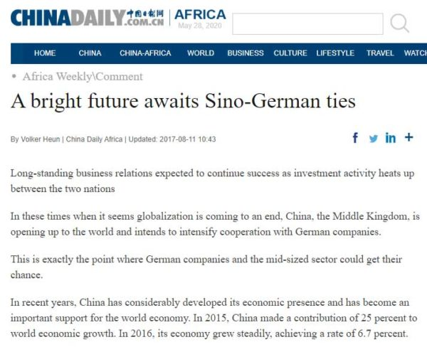 A bright future awaits Sino-German ties